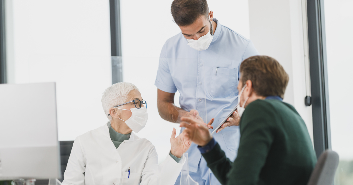 Hospital Staff Reading Enduring Powers of Attorney